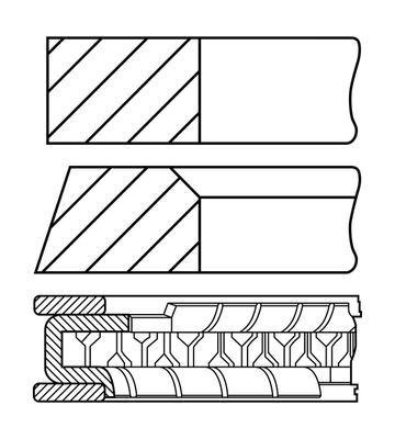 Segments de piston GOETZE ENGINE 08-431400-10 (X1)