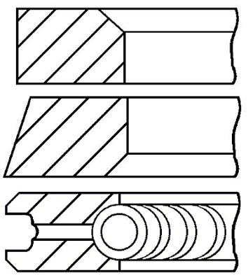 Segments de piston GOETZE ENGINE 08-432400-00 (X1)