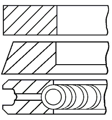 Segments de piston GOETZE ENGINE 08-439100-10 (X1)