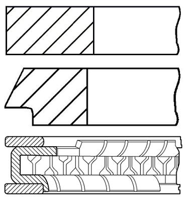 Segments de piston GOETZE ENGINE 08-441000-00 (X1)