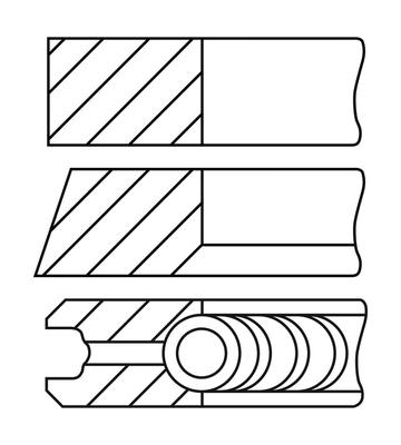 Segments de piston GOETZE ENGINE 08-451400-00 (X1)