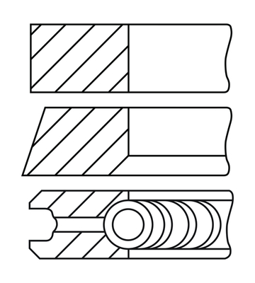 Segments de piston GOETZE ENGINE 08-451400-10 (X1)