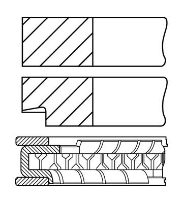 Segments de piston GOETZE ENGINE 08-452200-00 (X1)