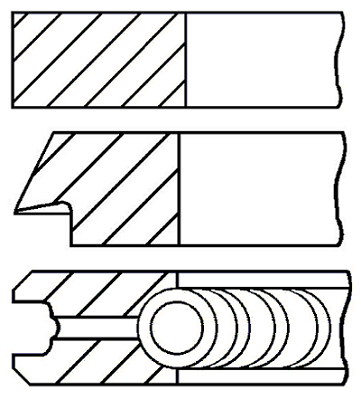 Segments de piston GOETZE ENGINE 08-526700-00 (X1)