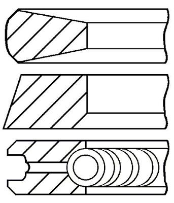 Segments de piston GOETZE ENGINE 08-783808-00 (X1)