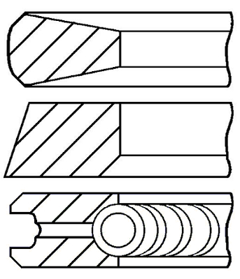 Segments de piston GOETZE ENGINE 08-785408-00 (X1)