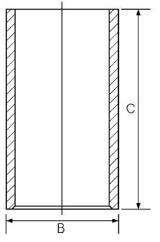Chemise de cylindre GOETZE ENGINE 14-011041-00 (X1)