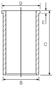 Chemise de cylindre GOETZE ENGINE 14-021571-00 (X1)