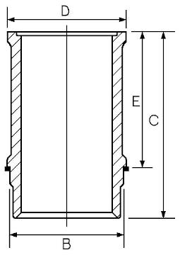 Chemise de cylindre GOETZE ENGINE 14-710010-00 (X1)