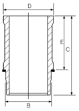 Chemise de cylindre GOETZE ENGINE 15-636590-00 (X1)