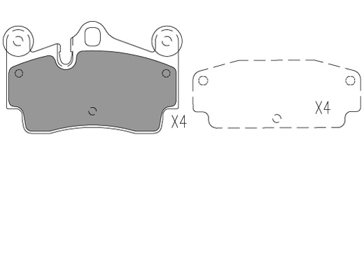 Plaquettes de frein KLAXCAR FRANCE 24085z (Jeu de 4)