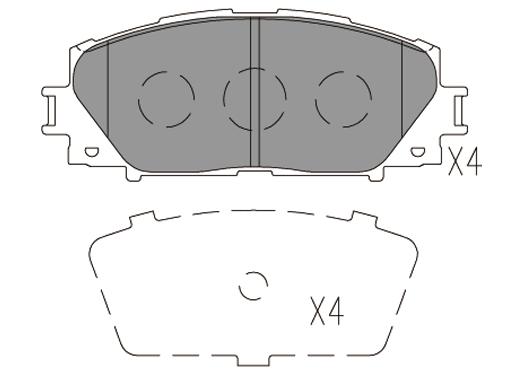 Plaquettes de frein avant KLAXCAR FRANCE 24796z (Jeu de 4)