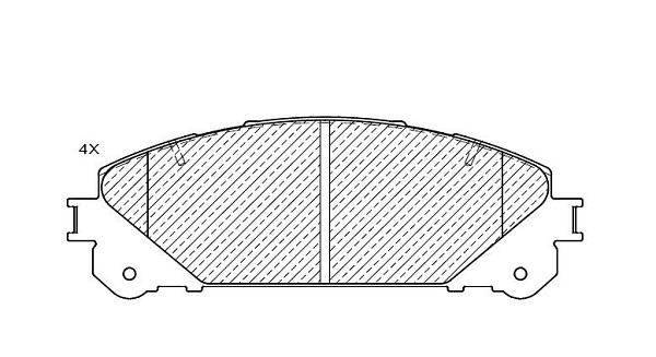 Plaquettes de frein avant KLAXCAR FRANCE 24942z (Jeu de 4)