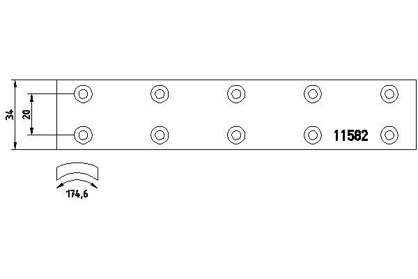 Kit de garnitures de frein (machoires)pour frein à tambour TEXTAR 1101901 (X1)