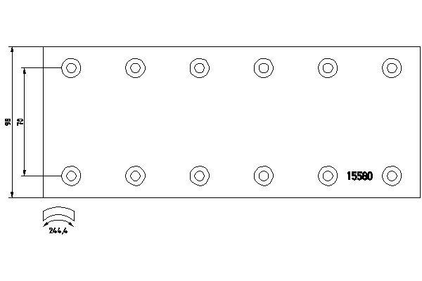 Kit de garnitures de frein (machoires)pour frein à tambour TEXTAR 1558008 (X1)