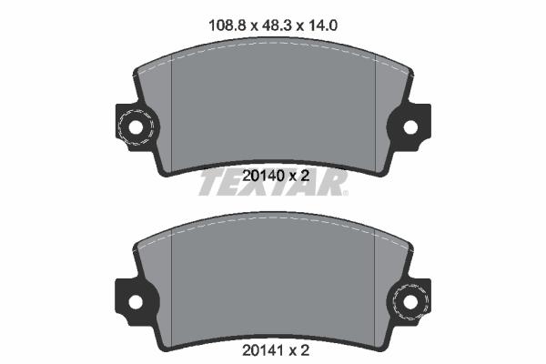 Plaquettes de frein TEXTAR 2014003 (X1)