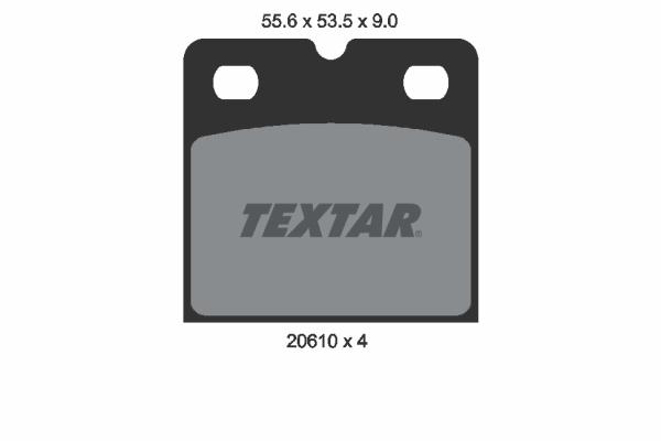 Kit de plaquettes de frein de stationnement TEXTAR 2061005 (X1)