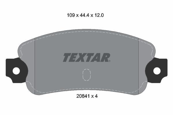 Plaquettes de frein TEXTAR 2084102 (X1)