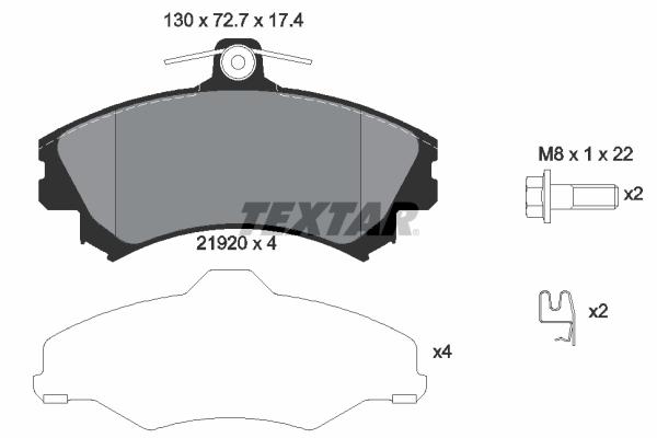 Plaquettes de frein avant TEXTAR 2192003 (X1)
