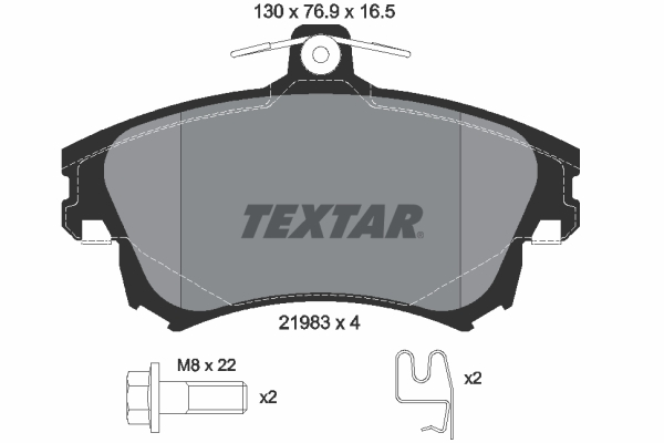 Plaquettes de frein avant TEXTAR 2198304 (X1)