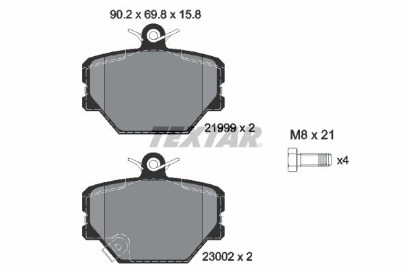 Plaquettes de frein avant TEXTAR 2199901 (X1)