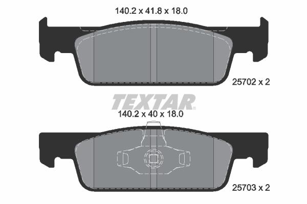 Plaquettes de frein avant TEXTAR 2570201 (X1)