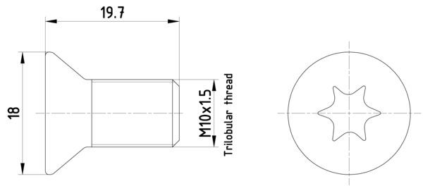 Vis disque de frein TEXTAR TPM0011 (Jeu de 2)
