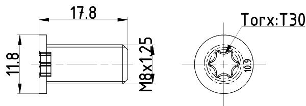 Vis disque de frein TEXTAR TPM0013 (Jeu de 2)