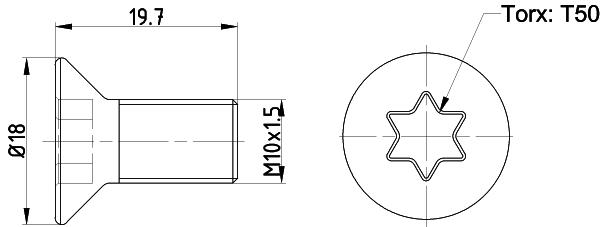 Vis disque de frein TEXTAR TPM0016 (Jeu de 2)
