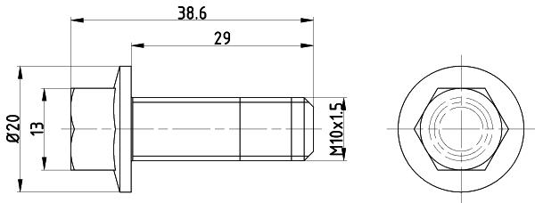 Vis disque de frein TEXTAR TPM0017 (Jeu de 2)