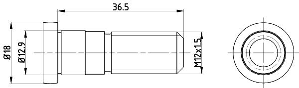 Vis disque de frein TEXTAR TPM0019 (Jeu de 2)