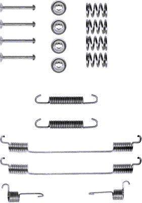Kit de montage machoires de frein TEXTAR 97006700 (X1)