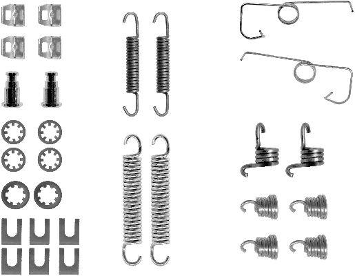Kit de montage machoires de frein TEXTAR 97027800 (X1)