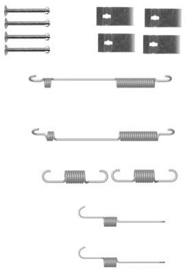 Kit de montage machoires de frein TEXTAR 97034300 (X1)