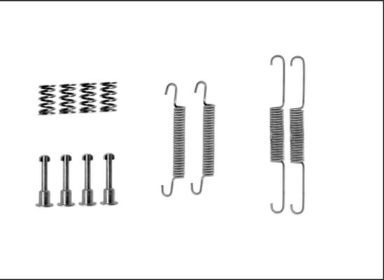 Kit d'accessoires mâchoires de frein de stationnement TEXTAR 97043600 (X1)