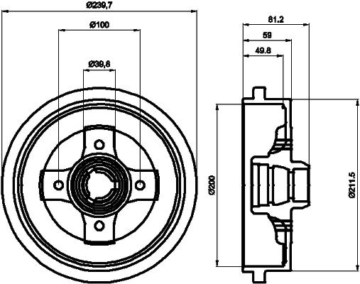 Tambour de frein arriere TEXTAR 94006700 (X1)