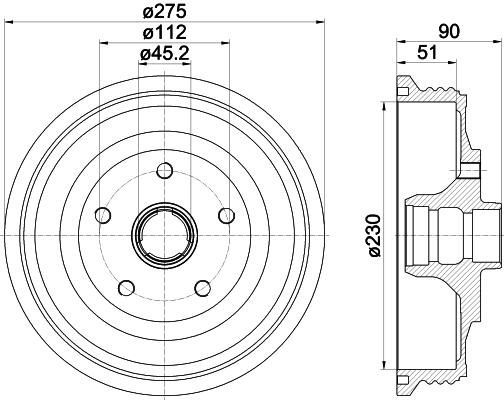 Tambour de frein arriere TEXTAR 94012700 (X1)