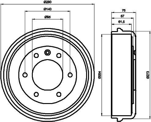Tambour de frein arriere TEXTAR 94016800 (Jeu de 2)