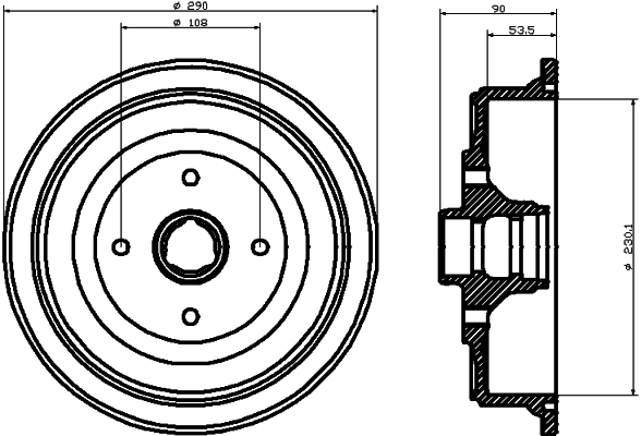 Tambour de frein arriere TEXTAR 94021400 (X1)