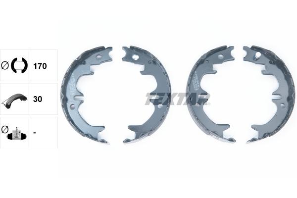 Jeu de mâchoires de frein de frein à main TEXTAR 91059400 (X1)