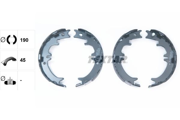 Jeu de mâchoires de frein de frein à main TEXTAR 91060500 (X1)