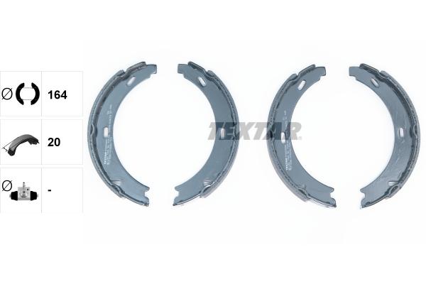 Jeu de mâchoires de frein de frein à main TEXTAR 91060800 (X1)