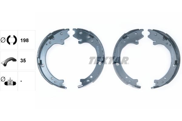 Jeu de mâchoires de frein de frein à main TEXTAR 91072300 (X1)