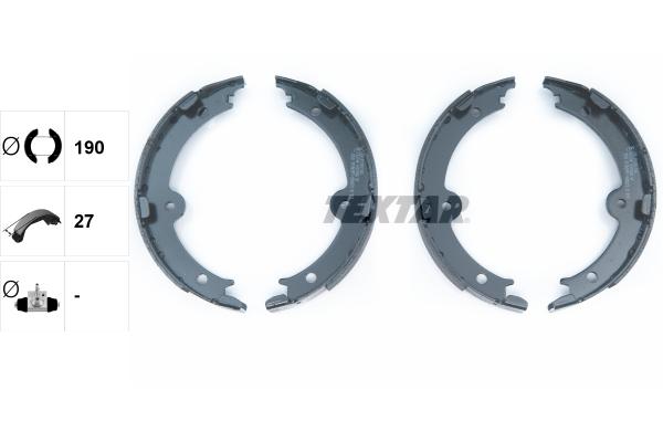 Jeu de mâchoires de frein de frein à main TEXTAR 91074000 (X1)
