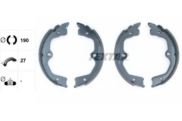 Jeu de mâchoires de frein de frein à main TEXTAR 91077700 (X1)