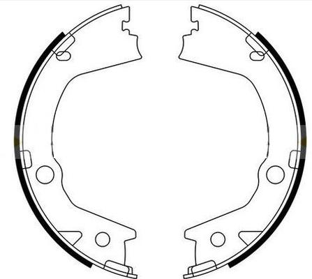 Jeu de mâchoires de frein de frein à main TEXTAR 91080900 (X1)