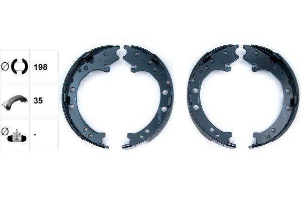 Jeu de mâchoires de frein de frein à main TEXTAR 91083100 (X1)