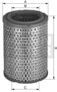 Filtre a air MANN-FILTER C 1369 (X1)