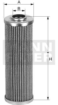 Filtre a huile de boite de vitesse MANN-FILTER HD 45/5 (X1)