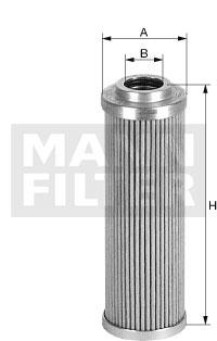 Filtre a huile de circuit hydraulique MANN-FILTER HD 57/4 (X1)
